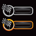Racing checkered flags on web banners Royalty Free Stock Photography