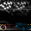 Racing concept this is a car illustrating competitiveness speed and winning Royalty Free Stock Images