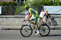 Racing cyclist at the th cycle race a participant of is pedaling in street of french town pau Royalty Free Stock Photography