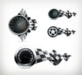 Racing emblems illustration on white background Royalty Free Stock Image