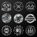 Racing emblems metallic