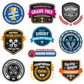 Racing emblems set of car and championship badges Royalty Free Stock Photos