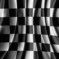 Racing flag black and white Stock Photos