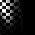 Racing flag black and white with some smooth folds in it Royalty Free Stock Images