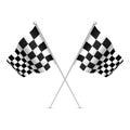 Racing flag checkered flag with nice shades vector illustration Stock Image