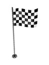 Racing flag d illustration of over white background Royalty Free Stock Image