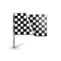 Racing flag isolated on white background Stock Photos