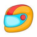 Racing helmet icon, cartoon style Royalty Free Stock Photo
