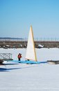 Racing Ice Boat Royalty Free Stock Photo