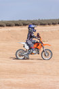 Racing motorcycles for teenagers on desert area summer day Royalty Free Stock Photography
