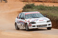 Racing old car in srilanka diyathalawa fox hill super cross event april Stock Photos