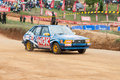 Racing old car in srilanka diyathalawa fox hill super cross event april Stock Images