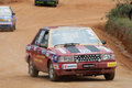 Racing old car in srilanka diyathalawa fox hill super cross event april Royalty Free Stock Photography
