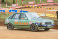 Racing old car in srilanka diyathalawa fox hill super cross event april Stock Photography