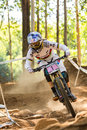 Racing through the rocks pietermaritzburg south africa april rachel atherton gt factory during final runs of round uci mtb world Stock Image