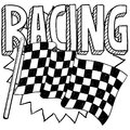 Racing sports sketch Stock Images