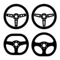 Racing steering wheels Stock Photo