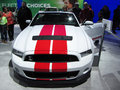 Racing stripe ford mustang photo of white and red at the washington dc auto show in washington dc on this muscle car continues the Stock Photography