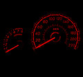 Racing style car speed meter 1 Stock Photos