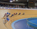 Racing at the Velodrome Stock Photography