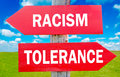 Racism and tolerance Royalty Free Stock Photo