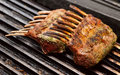 Rack of lamb on grill Royalty Free Stock Photography