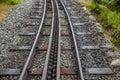 Rack and pinion railway on snowdon wales Stock Photos
