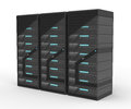 Rack of Servers Royalty Free Stock Images