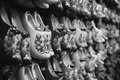 Rack of shoes Royalty Free Stock Photo