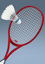 Racket for badminton Royalty Free Stock Photography