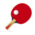 Racket playing table tennis illustration white background Royalty Free Stock Photos