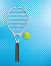 Racket tennis and ball illustration Royalty Free Stock Photos