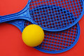 Rackets and ball Royalty Free Stock Photo