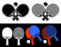 Rackets for table tennis. Royalty Free Stock Photos