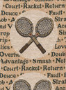 Rackets of tennis. Royalty Free Stock Image