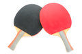 Racquet to play ping-pong on white background Royalty Free Stock Photo