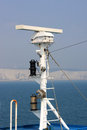 Radar apparatus on a boat off dover Stock Photography