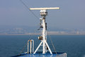 Radar apparatus on a ship Royalty Free Stock Image