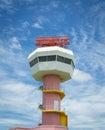 Radar communication tower and nice sky Royalty Free Stock Photo