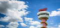 Radar communication tower and nice sky Stock Images
