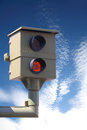 Radar control flash speed camera speed cameras Royalty Free Stock Images