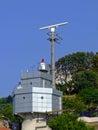 Radar control station at bosphorus canal in turkey Stock Photos