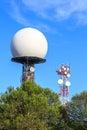 Radar dome Royalty Free Stock Photo