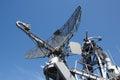 Radar on military ship Royalty Free Stock Photo