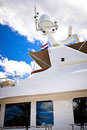 Radar safety equipment onboard yacht communication and inmarsat and gmdss Stock Photography