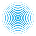 Radar screen concentric circle elements. Royalty Free Stock Photo