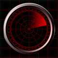 Radar screen (sonar) Stock Photography