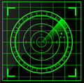 Radar screen vector illustration background Stock Photos