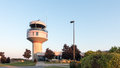 A Radar tower at an airport Royalty Free Stock Photo