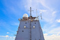 Radar tower on battleship htms chakri naruebet thai royal Stock Image